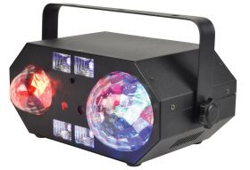 QTX TETRA Tetra LED Moonflower + Wave + Strobe/UV + Laser Effect - 151.608UK