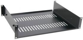"Adastra 19"" support shelf, 2U, black finish - 853.055UK"