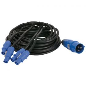 DMT Powercable Powercon 4 outputs Pixelscreen I3.9 cable 12,1mtr