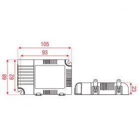 Meanwell LED-Driver universal 25 W Dali & Push dimm 350/1050mA
