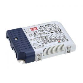 Meanwell LED-Driver universal 40 W Dali & Push dimm 350/1050mA