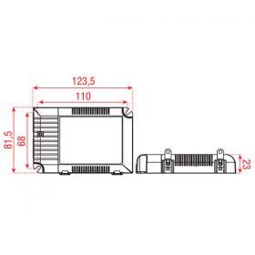 Meanwell LED-Driver universal 60 W Dali & Push dimm 500/1400mA