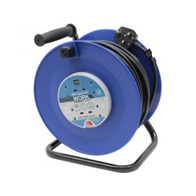 Masterplug 50m 13A 4 Socket HD Mains Extension Reel (HDCC5013/4BL)