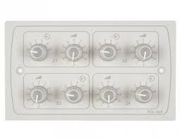 Cloud RSL6x4 White 4xRemote Source/Level Cont in 2-Gang UK Plate