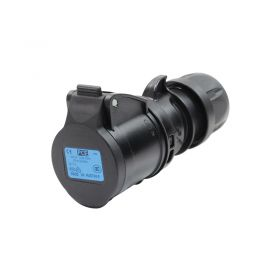 PCE 16A 230V 2P+E Black Socket (213-6X)