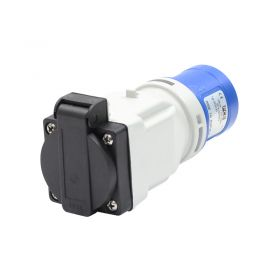 PCE 16A plug to 13A Socket Adapter 230v
