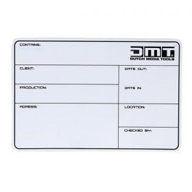 DMT Flightcase Label DMT magnetic with 3M tape + marker