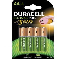 Duracell NiMH Plus Rechargeable AA Card of 4