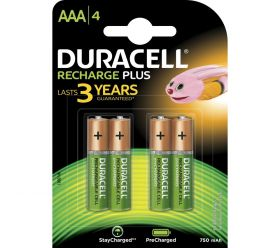 Duracell NiMH Plus Rechargeable AAA Card of 4