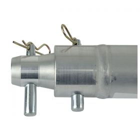 Alutruss MC50050 Single tube 50mm 50cm with female receivers-2 pcs