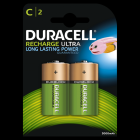 Duracell Recharge Ultra NiMH C Battery Card of 2