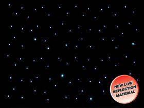 LEDJ DMX 8 x 4.5M Starcloth.