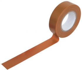PVC Tape Roll 19mm x 20m - Brown