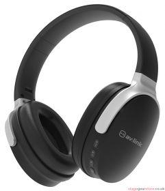 av:link WBH-40 BLK Over-Ear Wireless Bluetooth Headphones Black - 100.585UK
