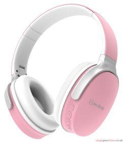 av:link WBH-40 PNK Over-Ear Wireless Bluetooth Headphones Pink - 100.587UK