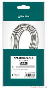 av:link Fig8 Speaker Wire White/Black Polarity 10m - 112.500UK