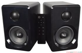 av:link ABS35BLK Active Bluetooth Bookshelf Speakers Black - 120.150UK