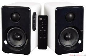 av:link ABS35WHT Active Bluetooth Bookshelf Speakers White - 120.151UK