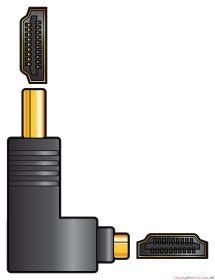 av:link Adaptor HDMI RA Plug - HDMI Socket - 122.399UK