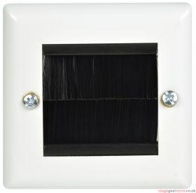 av:link - Brush Wallplate 1G White Steel- 123.271UK