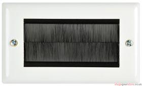 av:link - Brush Wallplate 2G White Steel- 123.273UK