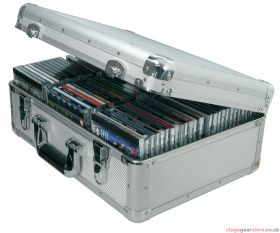 Citronic CDA:80 Aluminium CD flight case, 80 CDs. - 127.065UK