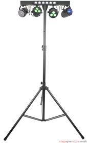 QTX Stage Bar Stage Bar - PAR+ Fireball + Laser + UV/Strobe + Stand - 151.553UK