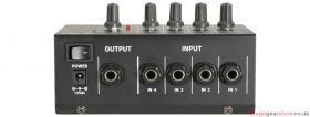 Qtx LM41 4 Mono Channel Line Level & Instrument Mixer - 170.204UK