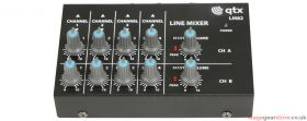 Qtx LM82 4 Stereo Channel Line Level & Instrument Mixer - 170.205UK