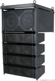 Citronic CLA-300B CLA-300 Active Line Array Speaker System, 300W + 300W, Black - 171.227UK