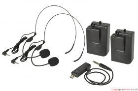 Qtx - U-MIC Dual Neckband UHF System 863.2+864.8MHz- 171.812UK
