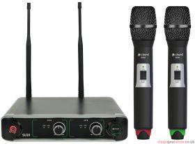 Chord - SU20 Dual UHF Handheld Microphone Set Red + Green- 171.907UK