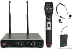 Citronic - SU20 Dual UHF Combo Microphone Set Red + Green- 171.909UK