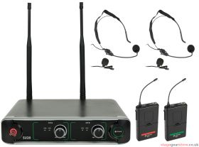 Chord - SU20 Dual UHF Beltpack Microphone Set Red + Green- 171.917UK