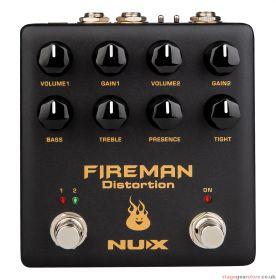 Nux - NuX Fireman Dual Distortion Pedal- 173.373UK