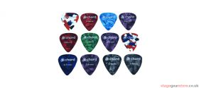 Chord PIC-T12 Plectrums - Tin of 12 Assorted - 174.995UK
