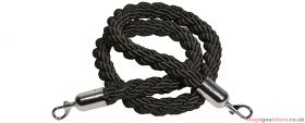 Citronic Twisted Black Security Rope with Hooks 1.5m - 853.987UK