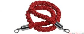 Citronic Twisted Red Security Rope with Hooks 1.5m - 853.989UK