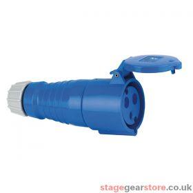 ABL CEE Form 32A 3 Pin Socket Fema le 6H Blue