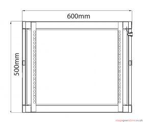 Adastra - Rack Cabinet 9U x 450mm Deep- 953.509UK
