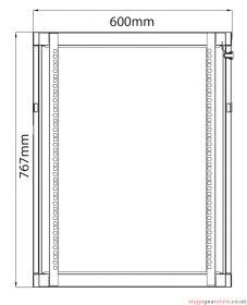 Adastra - Rack Cabinet 15U x 450mm Deep- 953.515UK