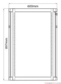 Adastra - Rack Cabinet 18U x 450mm Deep- 953.518UK