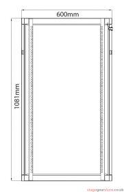 Adastra - Rack Cabinet 22U x 450mm Deep- 953.522UK