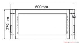 Adastra - Rack Cabinet 4U x 600mm Deep- 953.604UK