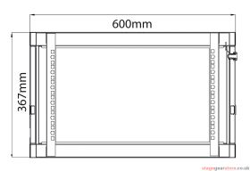 Adastra - Rack Cabinet 6U x 600mm Deep- 953.606UK