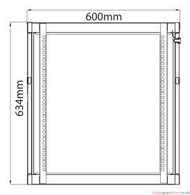 Adastra - Rack Cabinet 12U x 600mm Deep- 953.612UK