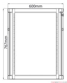 Adastra - Rack Cabinet 15U x 600mm Deep- 953.615UK