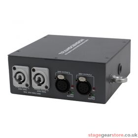 Transcension HS 2 Hybrid PowerCON DMX Distribution Splitter