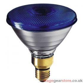 Branded Theatre Lamp - PAR 38 - 80w ES Fitting BLUE