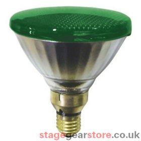 Branded Theatre Lamp - PAR 38 - 80w ES Fitting GREEN